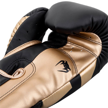 Elite Boxing Gloves Black Gold
