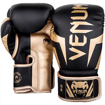 Elite Boxing Gloves Black Gold