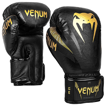 Impact Boxing Gloves Black Gold