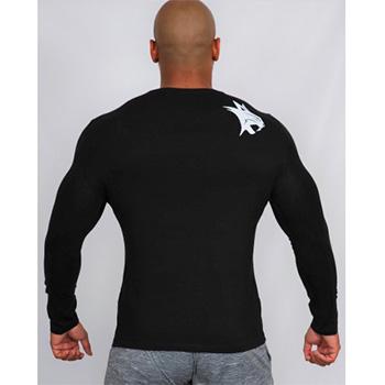 Tee Shirt Strech Manches Longues Noir