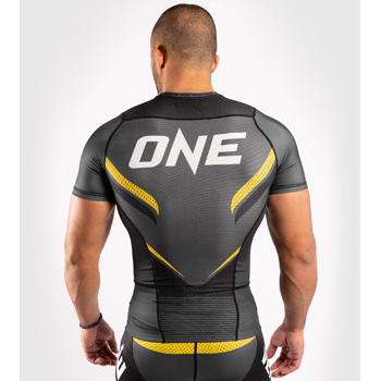Rashguard One FC Impact Grey Yellow