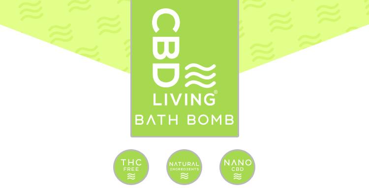 CBD Living Bath Bomb Eucalyptus
